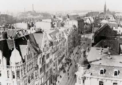 September 1942: Blick vom Lloydturm in Richtung Brill. Quelle: Staatsarchiv Bremen