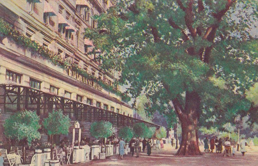 """Ein beliebter Anlaufpunkt: das 1934 eröffnete """"Cafe zur Mühle"""" auf einer Ansichtskarte von 1937. Quelle: Peter Strotmann"""