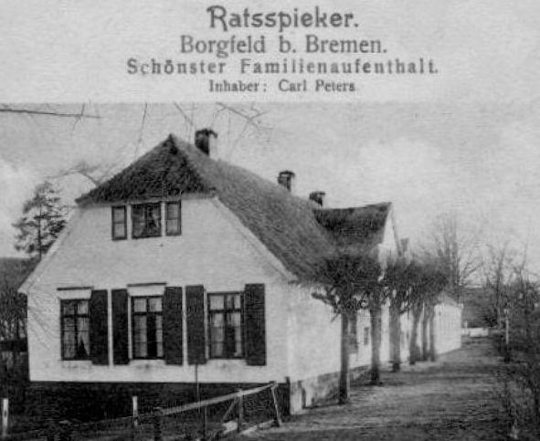 Der Ratsspieker auf einer Werbepostkarte von 1915. Quelle: Heimatverein Borgfeld und Sportclub Borgfeld