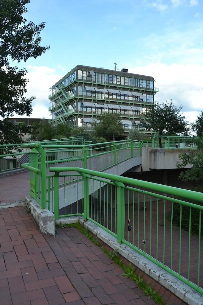 Wie das Unibad ein prägender Bestandteil des universitären Sportbereichs: der Sportturm. Foto: Frank Hethey