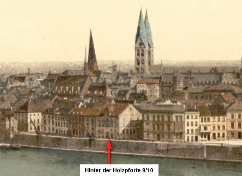 Noch kein Backsteinbau: Um 1900 stand an gleicher Stelle noch ein Gebäude aus der Biedermeierzeit. Bildvorlage: Peter Strotmann
