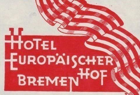Die Bremer Farben als Markenzeichen: Kofferaufkleber nach 1928. Quelle: Peter Strotmann