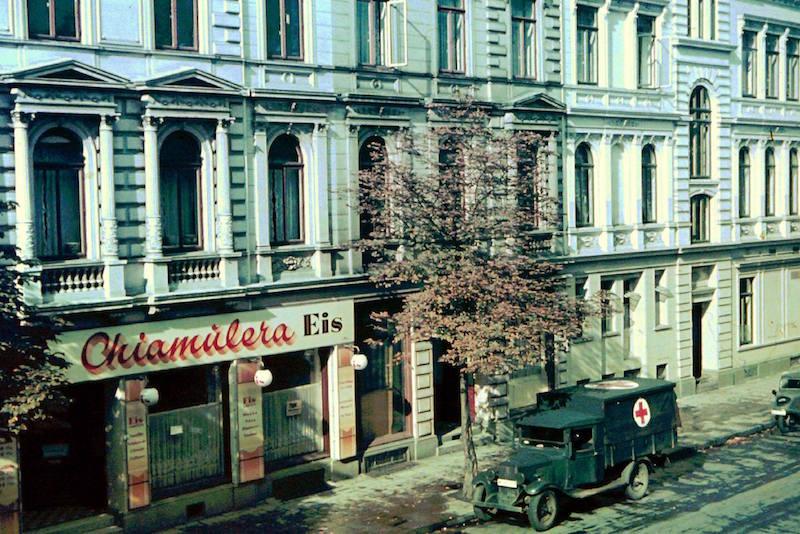 Bei den Amerikanern hoch im Kurs: die Chiamulera-Filiale am Sielwall, hier auf einem Foto von 1939. Quelle: Gerald Sorger