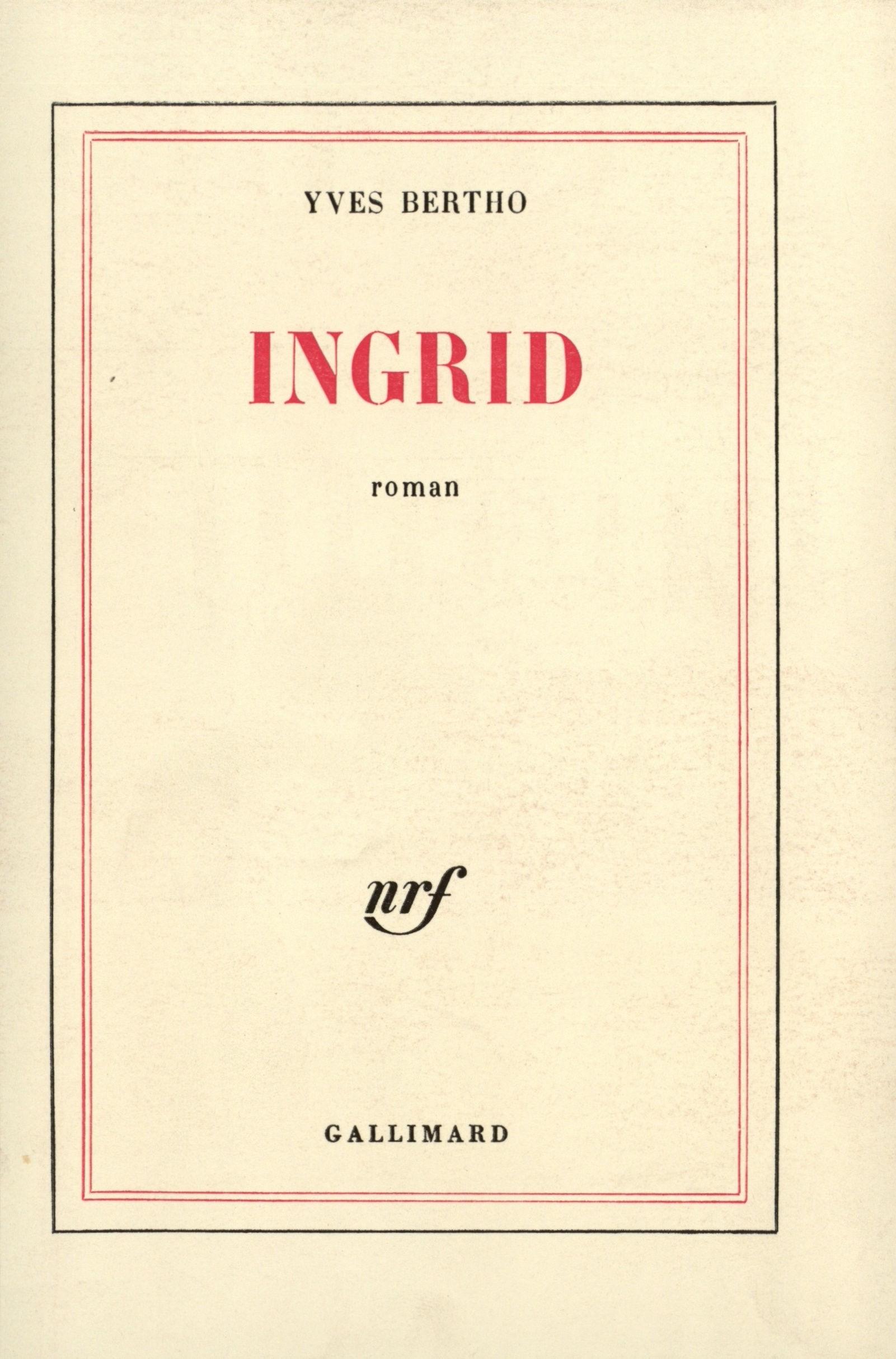 """Ein großer Erfolg in Frankreich: die Originalausgabe von 1976 unter dem Titel """"Ingrid"""". Bildvorlage: Kellner-Verlag"""