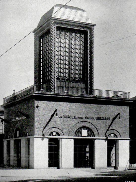Ein Stück New York in Bremen: der neue Werbe- und Ausstellungsturm kurz nach seiner Eröffnung im Juni 1925. Quelle: Staatsarchiv Bremen