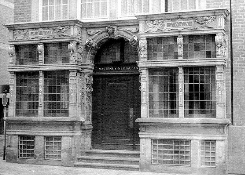 Das Gasthaus ist Geschichte: 1972 richtete sich die Bank Martens & Weyhausen im Essighaus ein. Quelle: Staatsarchiv Bremen