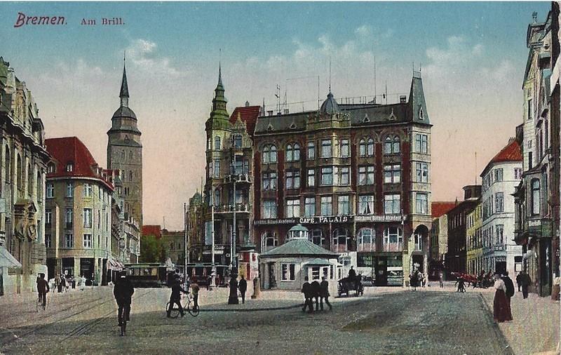 Gutes Pflaster: An der Brill-Kreuzung betrieb Heinrich Bialystock sein Geschäft seit 1926. Quelle: Bestand Hoffmann