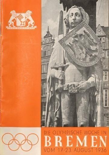Olympia fürs Volk: Broschüre zum Start der Nacholympischen Spiele. Quelle: Staatsarchiv Bremen
