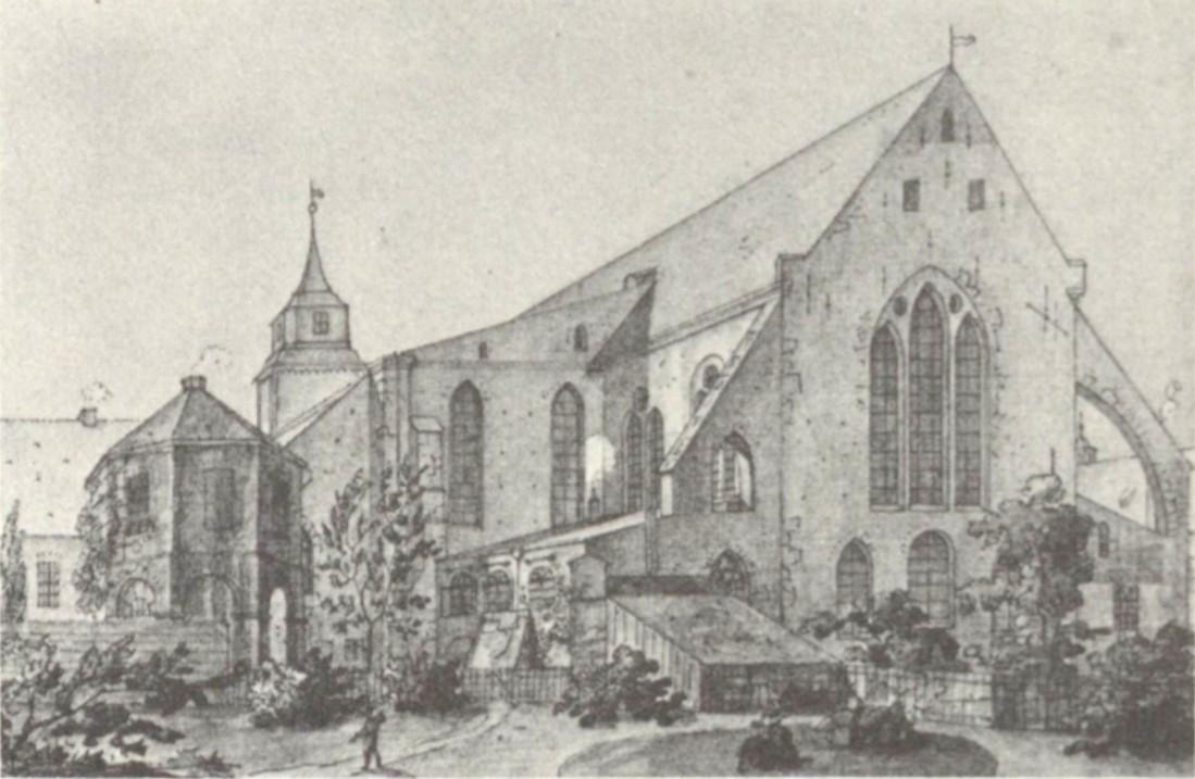 Auch von George Ernest Papendiek: Ansicht des Bremer Doms von Osten aus dem Jahr 1820. Quelle: Wikicommons