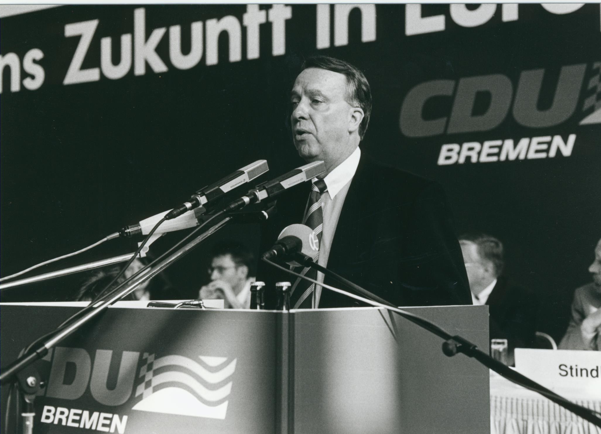 Viele Jahre der starke Mann der Bremer CDU: Bernd Neumann. Quelle: CDU Bremen