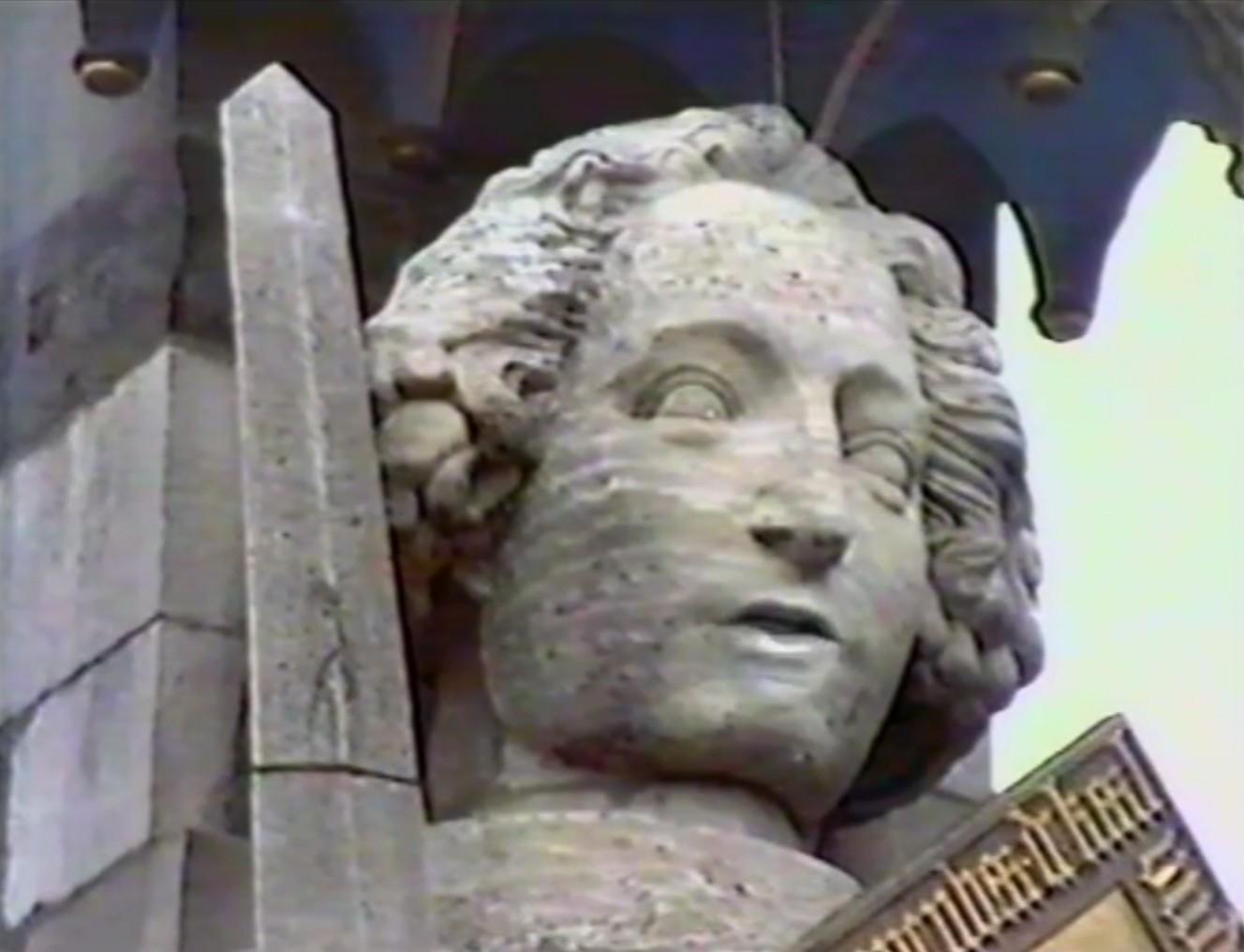 Nicht auf den Mund gefallen: der sprechende Roland im Rothwell-Film. Quelle: John Rothwell, Roland oder Moritz