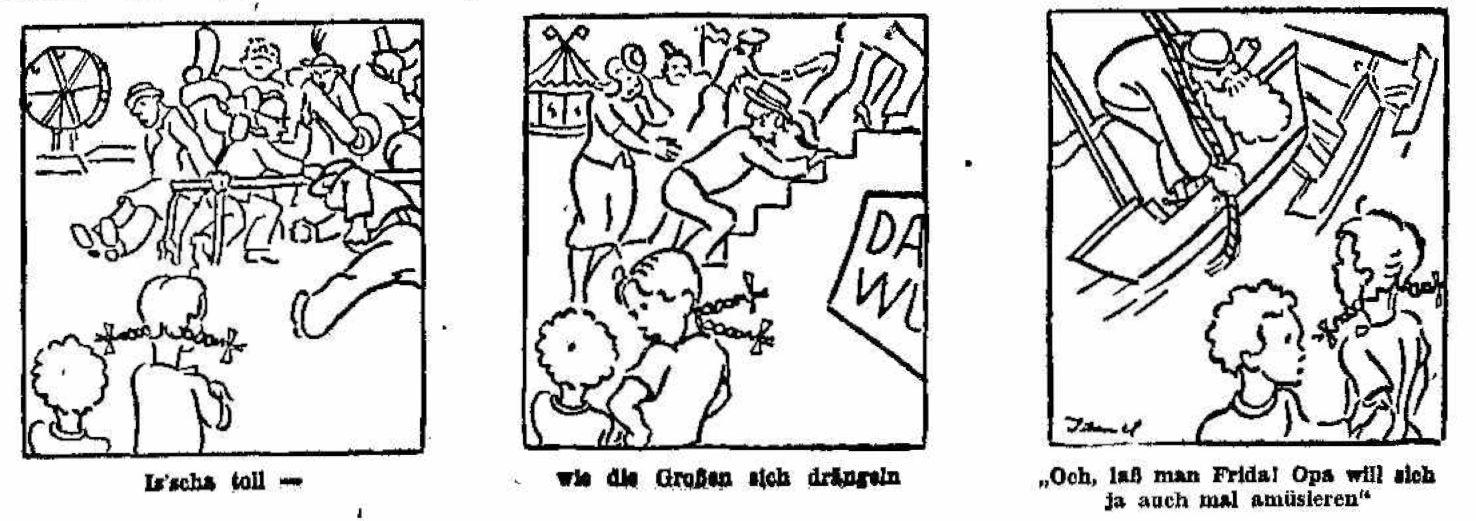 Vergnügungssucht mal anders: Die Alten drängeln, die Kinder staunen. Quelle: Archiv des Weser-Kuriers