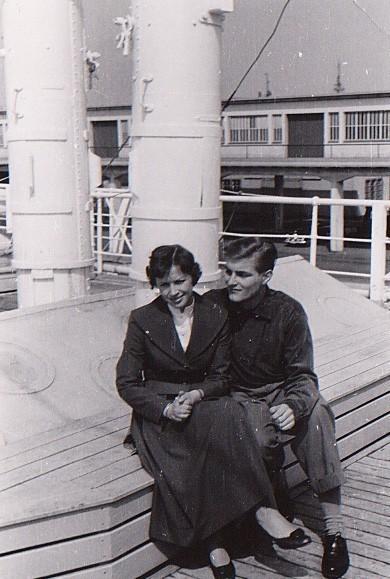 Im Mai 1956 nahm Günter Garbrecht nicht nur Abschied von seiner alten Heimat. Seine spätere Frau blieb vorerst zurück, wollte aber nachkommen. Bildvorlage: Günter Garbrecht