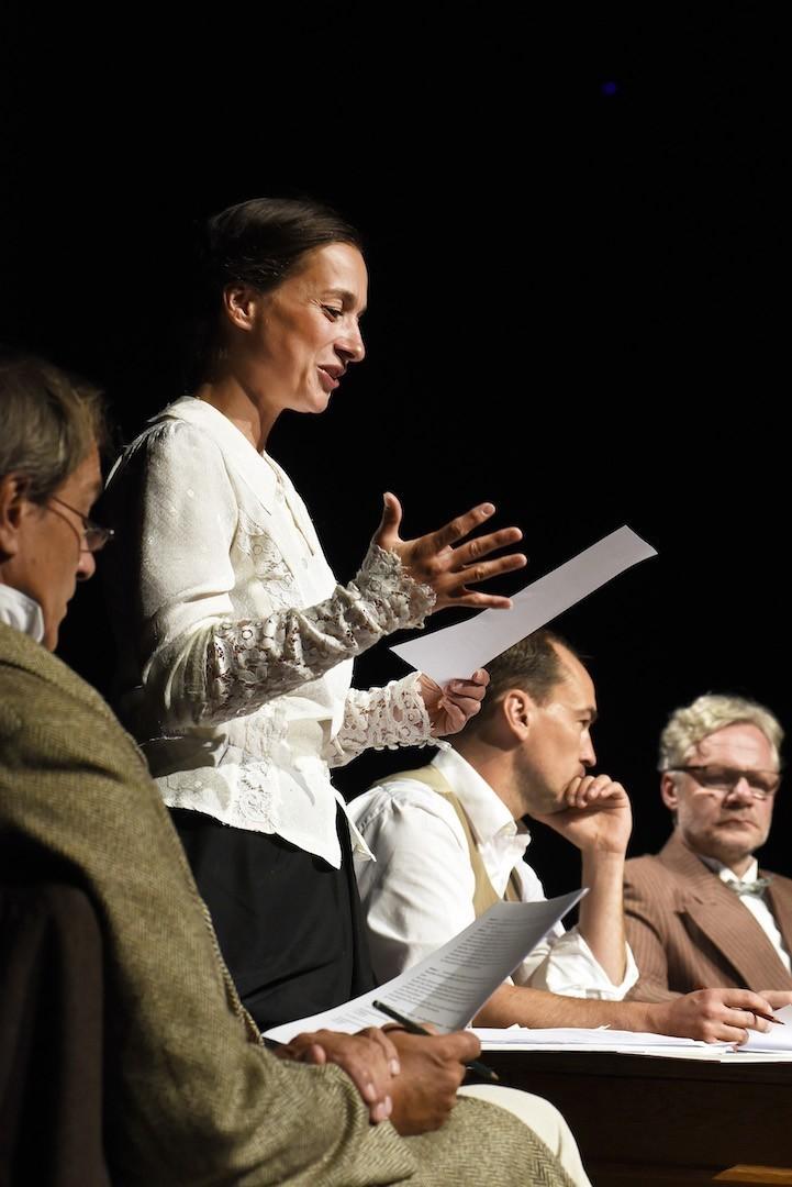 Engagierte Vorleser: Peter Lüchinger, Petra-Janina Schultz, Markus Seuß, Erik Roßbander. Foto: Marianne Menke