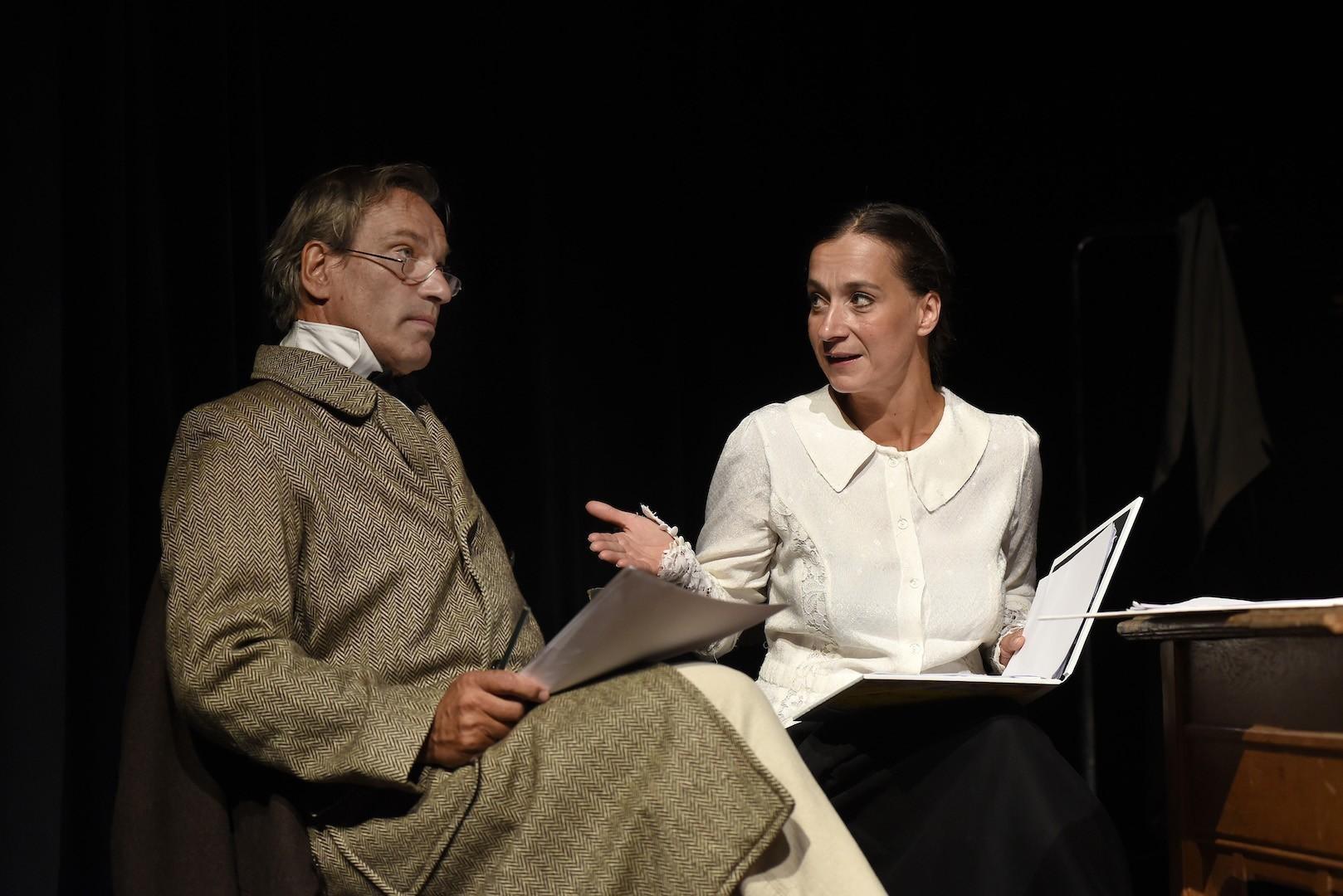 Viel zu bereden: Peter Lüchinger und Petra-Janina Schultz. Foto: Marianne Menke
