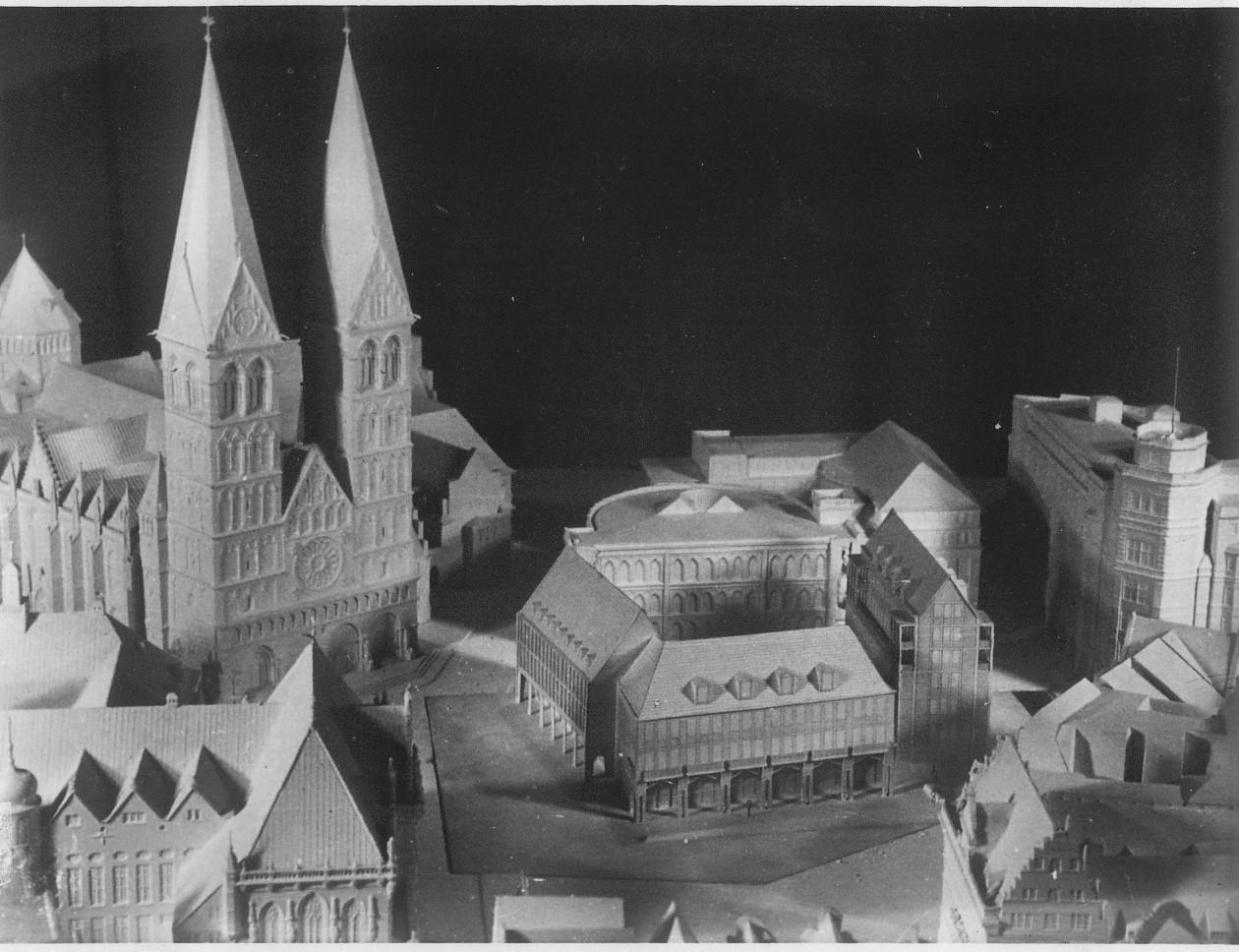 Erster Wettbewerb 1951/52: der Entwurf von Kurt Dübbers. Quelle: Bremer Zentrum für Baukultur