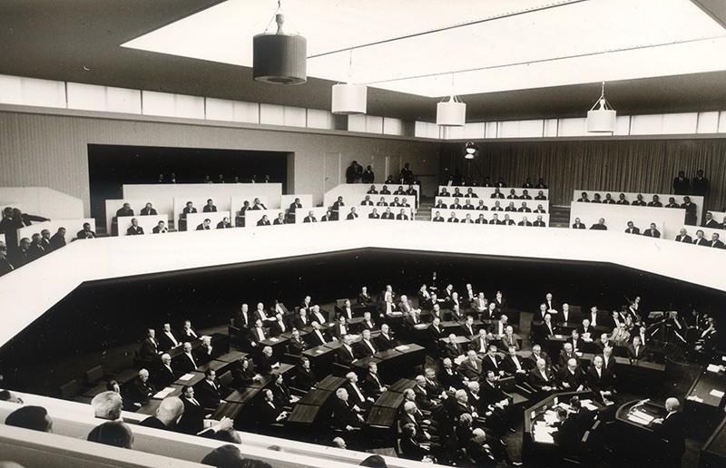 Als der Streit vorbei war: Feierliche Eröffnung des Hauses am 9. September 1966. Quelle: Bremer Zentrum für Baukultur