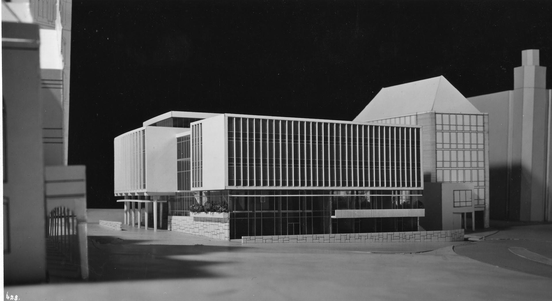 Kompromisslos modern: der erste Entwurf von Wassili Luckhardt. Quelle: Bremer Zentrum für Baukultur