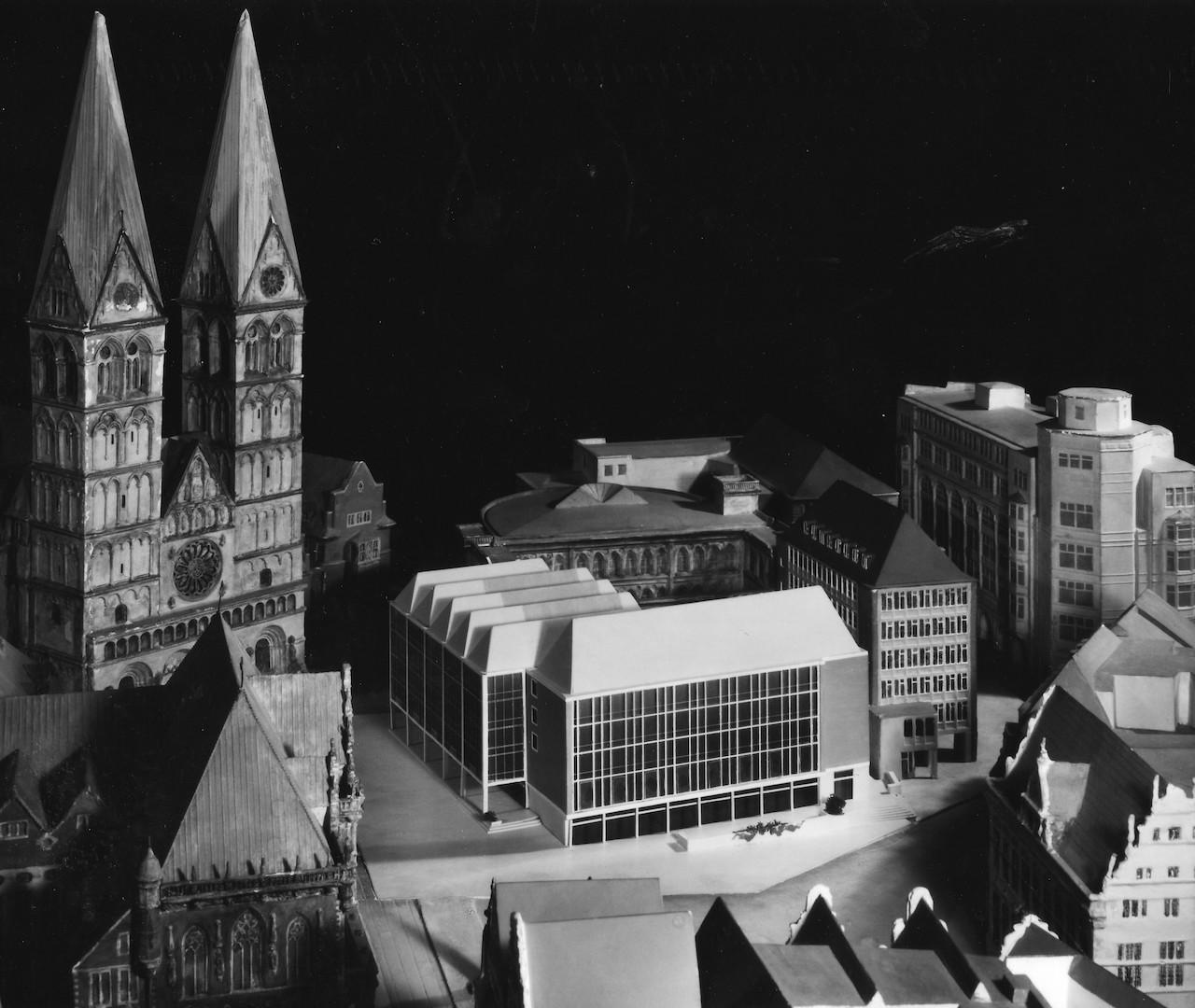 Auch nachgebessert: der überarbeitete Entwurf von Müller-Menckens. Quelle: Bremer Zentrum für Baukultur