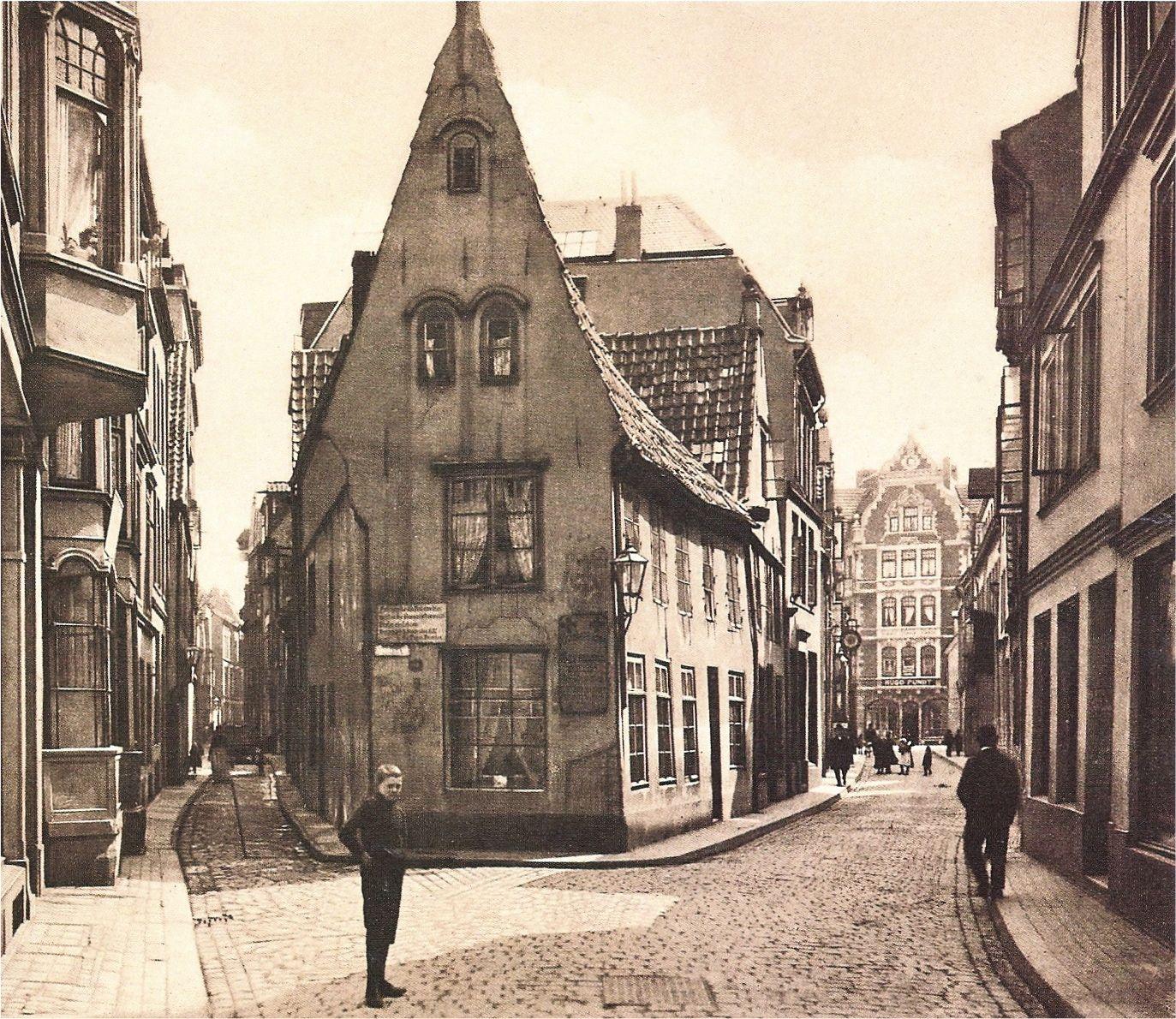 Eng und verwinkelt: der Spitzenkiel im Jahre 1904. Quelle: Hans Hermann Meyer, Die Bremer Altstadt, Bremen 2003