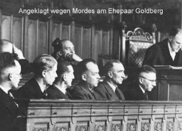 Angeklagt: Scheinbar normale Männer, die an der Ermordung des Ehepaar Goldberg beteiligt waren. Bildvorlage: Kulturhaus Walle