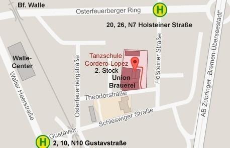 Der Ort des Geschehens: die Tanzschule Cordero-Lopez auf dem Gelände der Union-Brauerei in Walle. Quelle: BAT