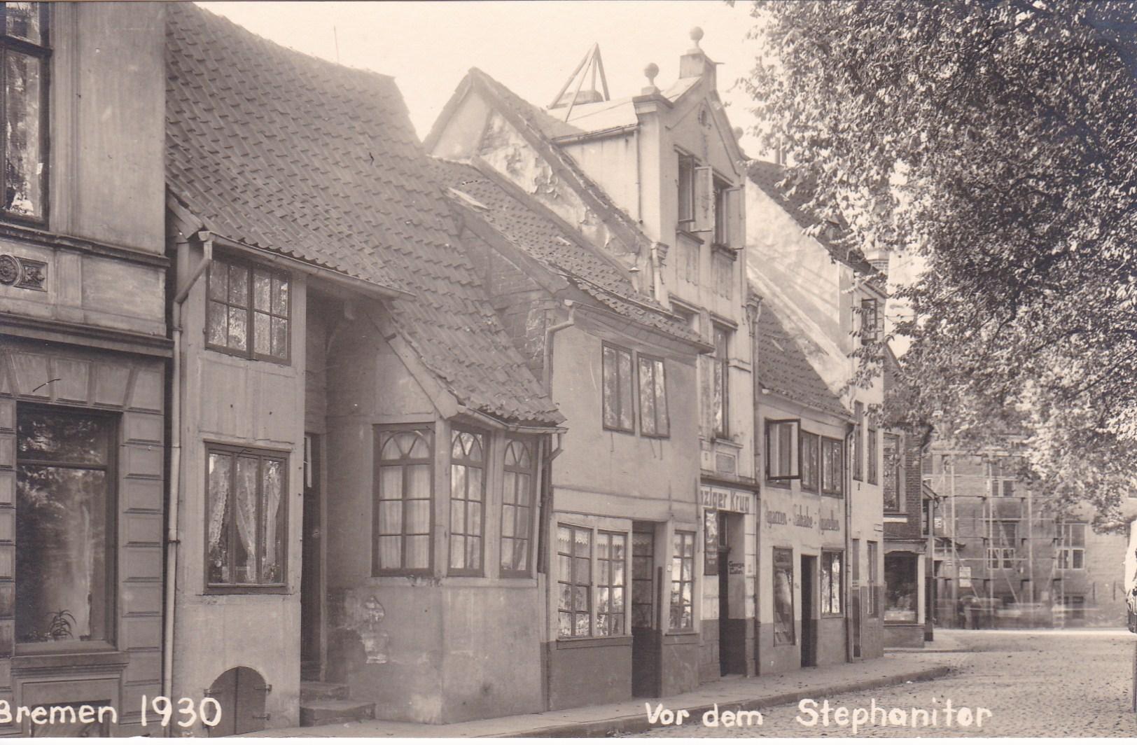 Hübsch, aber auch vernachlässigt: die Häuschen an der Straße Vor dem Stephanitor. Quelle: Privat