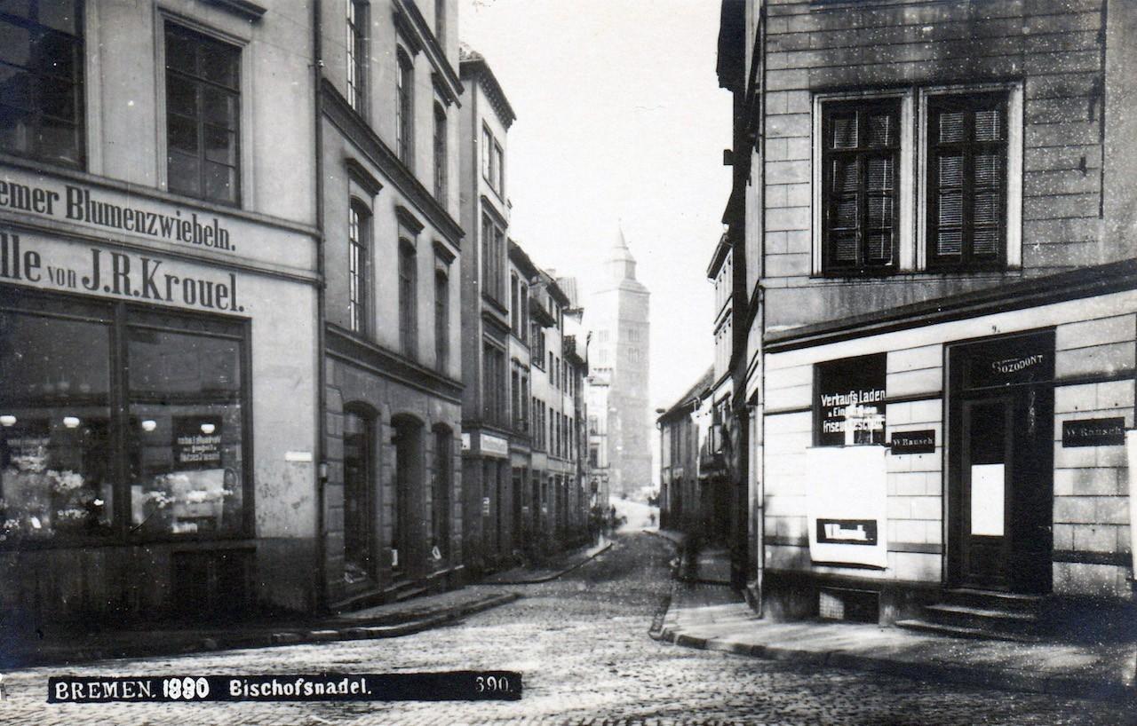 Und in der Ferne nur ein Domturm: Blick durch die Bischofsnadel um 1880. Bildvorlage: Bestand Herbert Fuß