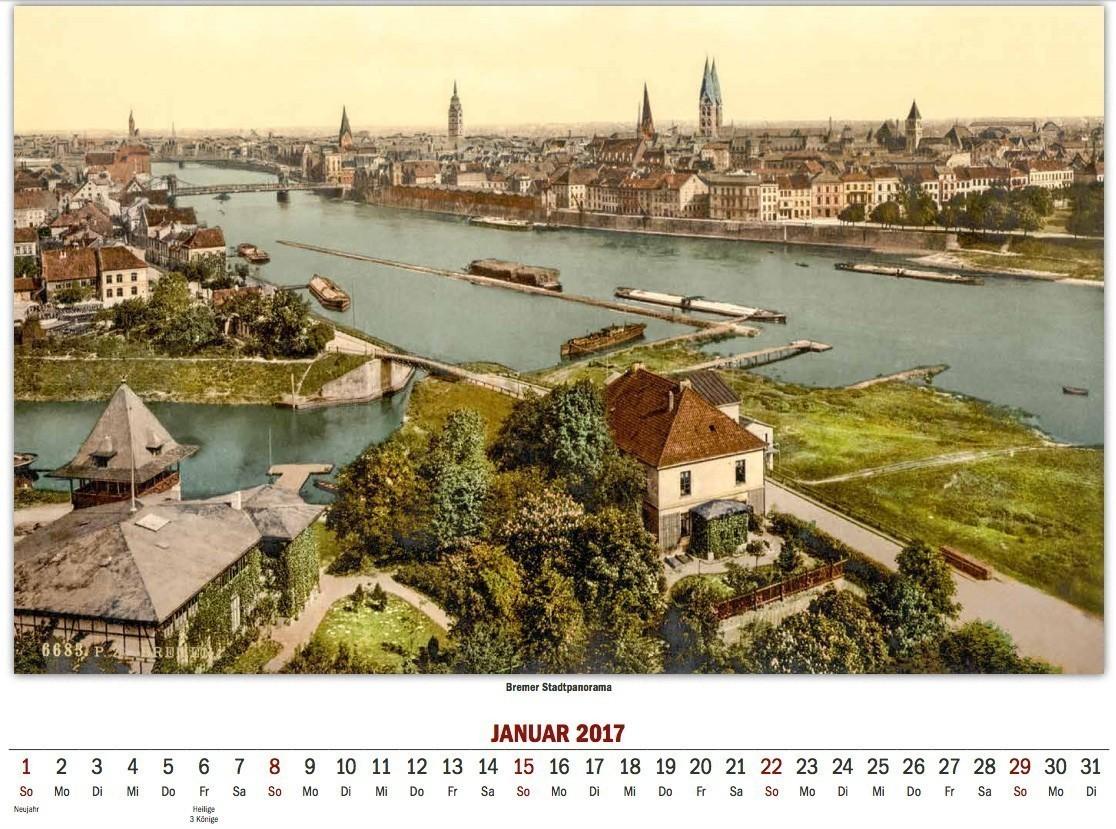 Klassisch: Bremen-Panorama um 1900. Bildvorlage: Peter Strotmann