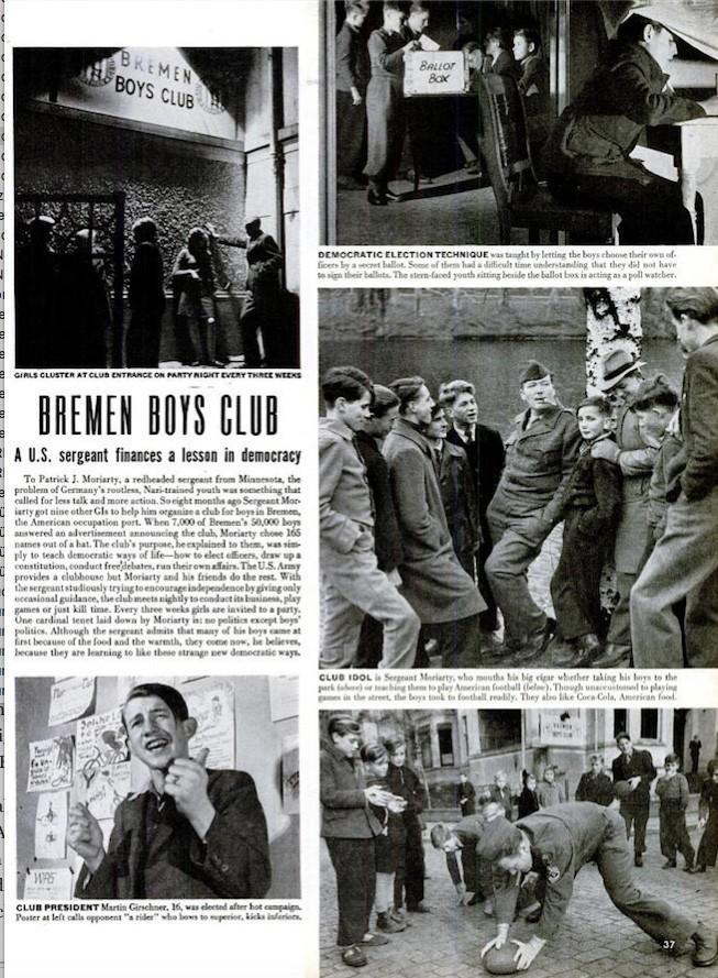 Alles über die Bremen Boys Club: Bericht im LIFE Magazin von 1946. Quelle: LIFE Magazin