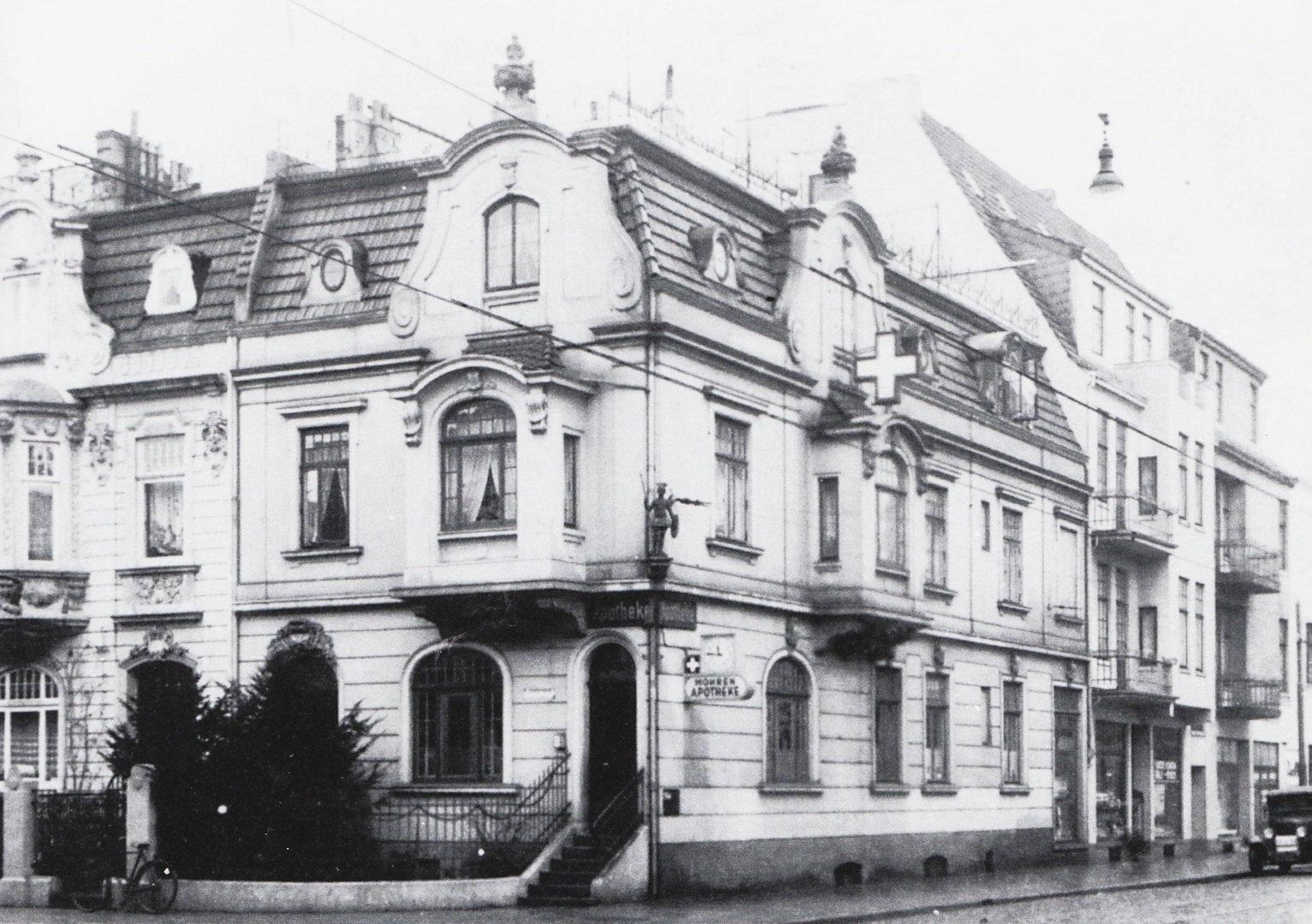 Einst völlig unverfänglich: die Mohren-Apotheke in der Neustadt. Quelle: Stadtteil-Archiv Bremen-Neustadt