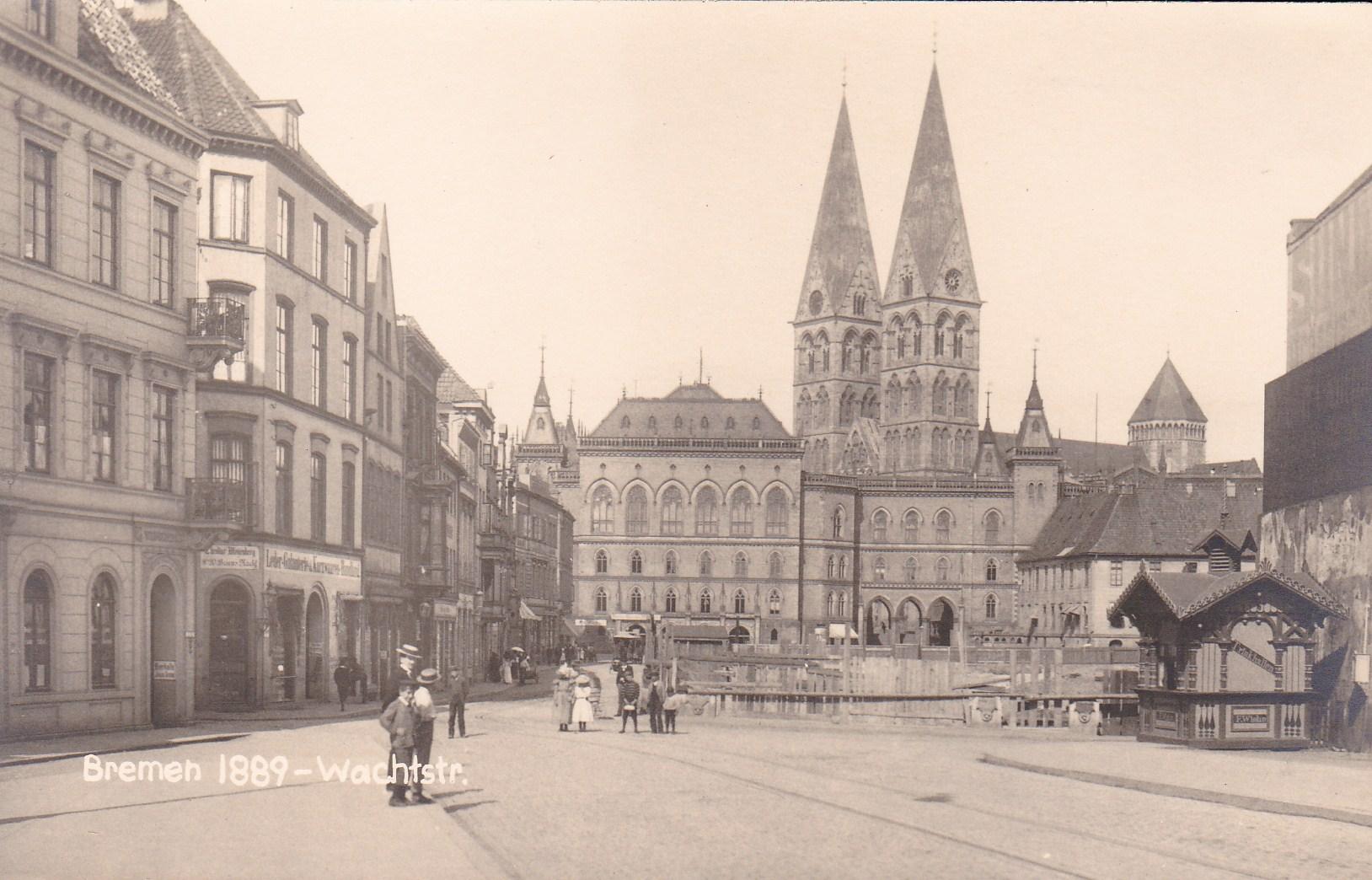 Faszinierender Anblick: die Wachtstraße um 1898 - nicht wie schriftlich vermerkt 1889. Bildvorlage: Bestand Herbert Fuß
