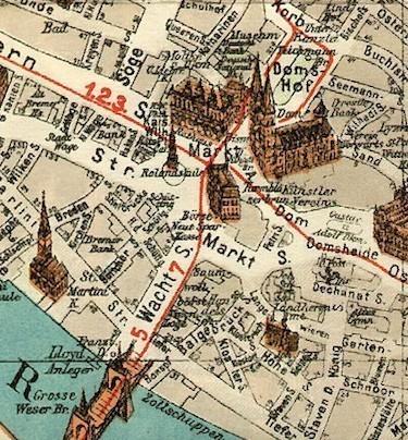 Wie sich die Zeiten ändern: Kartenausschnitt von einem Stadtplan von 1926. Quelle: Privat