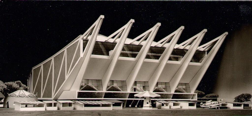 Modell der Bremer Stadthalle