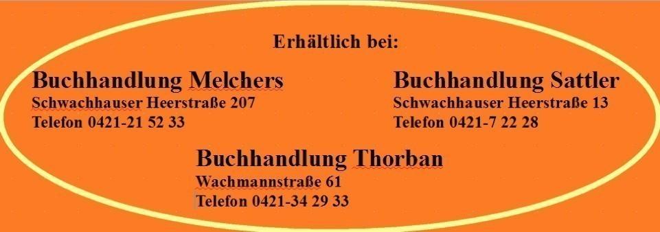 Banner mit Kontaktdaten Bremer Buchhandlungen